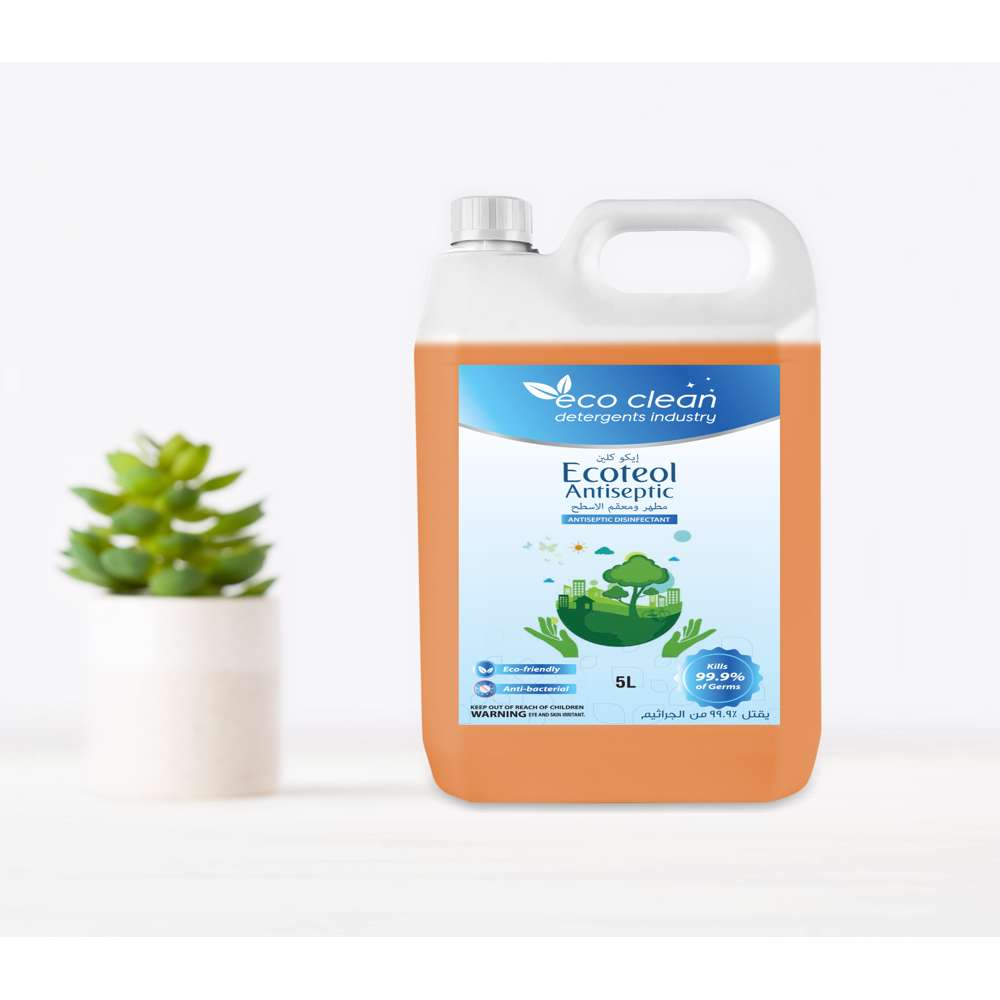 Eco Clean Ecoteol Antiseptic (Light Brown) - 5L